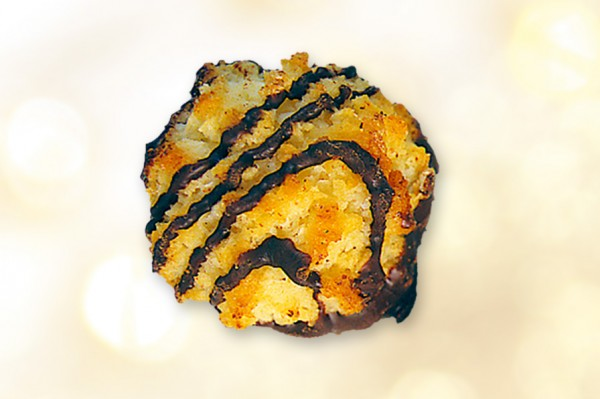 Kokostaler mit Zartbitterschokolade