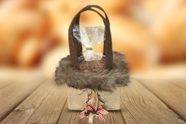 Tasche mit Holztanne