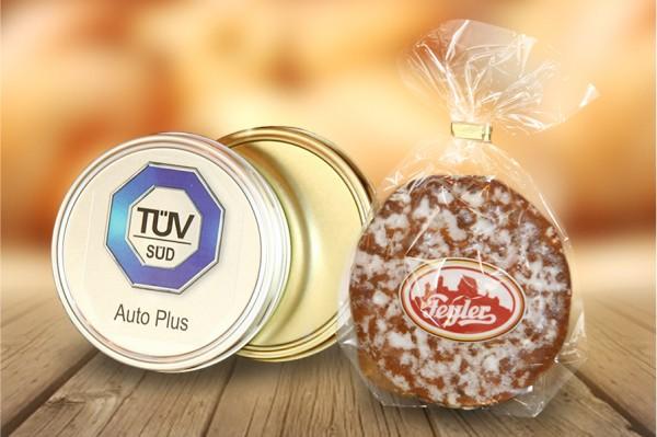 Elisenlebkuchen mit Logodose