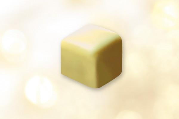 Lebkuchenwürfel mit weißer Schokolade