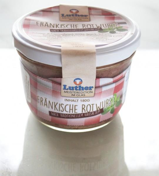 Fränkische Rotwurst 180g Glas
