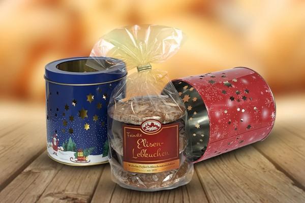 """""""Teelichtdose"""" mit 5 St. Elisenlebkuchen"""