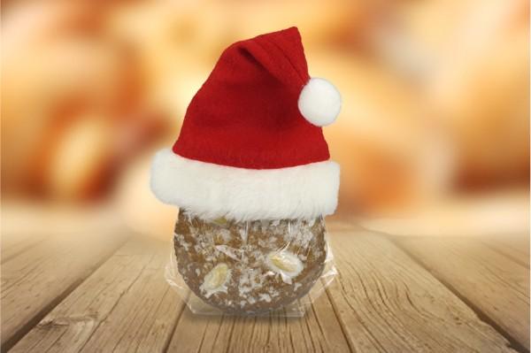 Elisenlebkuchen mit Nikolausmütze