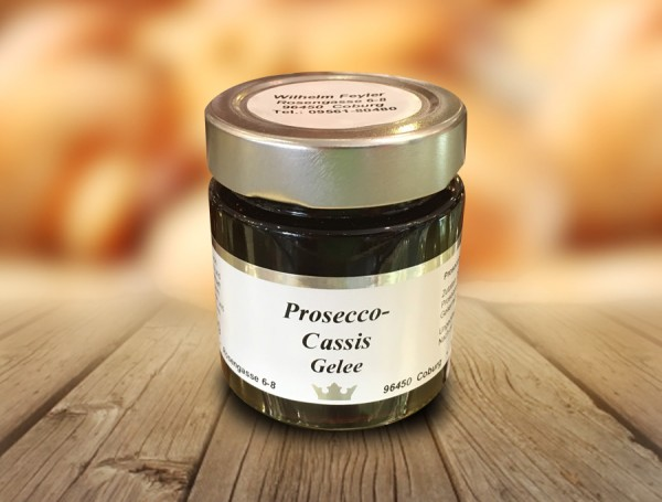 Prosecco-Cassis-Fruchtaufstrich 165g